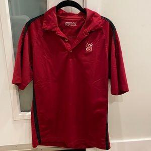 Dark Red Stanford Nike Golf Polo